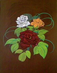 Rosen (1996-1998) Tempera auf Zeichenpapier 50 x 70 cm