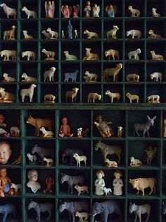 Love the lambs and angels, must collect more, must find cubbies!