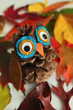 Pine Cone Owl Craft (The Crafty Crow)