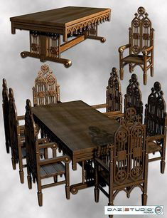 Medieval and Gothic Home Furniture | Medieval Furniture Pack