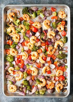 One Pan Roasted Shrimp & Veggies