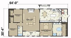 Floor Plans: Spring Arbor 3268 05 - Manufactured and Modular Homes