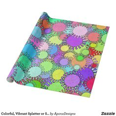 Colorful, Vibrant Splatter or Splotch Pattern Gift Wrapping Paper, Present Gift, Create Your Own, Wraps, Presents, Vibrant, Colorful, Pattern, Gifts