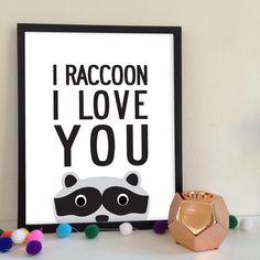 Raccoon Poster - My Sweet Prints