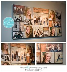 24 x 48 canvas with an image collage, and affordable way to display lots of images from a photo session. | source: tilt photography
