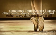 I do get bruises a lot from dancing <3 But it's so worth it.