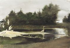 ANDREW WYETH The Pond [1997]