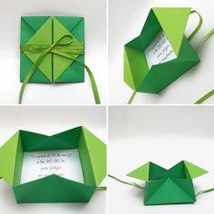 origami - sobre que al abrirlo adquiere forma de caja