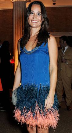 Pippa Middleton wearing Matthew Williamson at the launch of the new Serpentine Sackler Gallery in London
