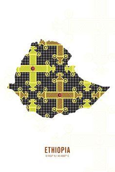 Ethiopia Map Print