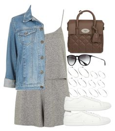 """Style #9059"" by vany-alvarado ❤ liked on Polyvore featuring Topshop, ASOS, Yves Saint Laurent, Mulberry and Ray-Ban"