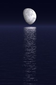 Image detail for -Eerie Moon Over Water
