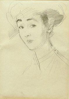 John Singer Sargent - Duchess of Marlborough (Consuelo Vanderbilt) A charming drawing.