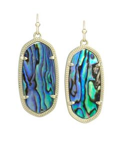 These abalone earrings are great for fall!  They go with absolutely everything and are a bit unexpected!  They aren't too heavy for all day wear, and I love them!