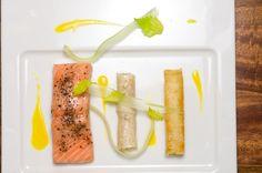 Salmon and Celery. Chef David Feau.