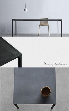 designersPaolo Lucidi and Luca Pevere'sstunning concrete tableBoiacca
