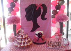 Decoración Cumpleaño Barbie SillohuetteIdeas by Karina