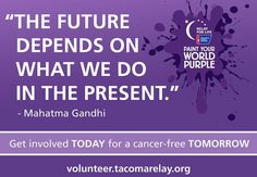 Volunteer today to help us create a cancer-free tomorrow.   Volunteer.tacomarelay.org