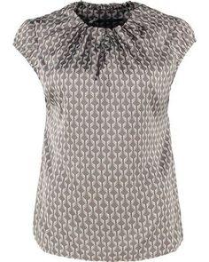 comma TShirt print brown Online Shops, Shirts, Brown, Tops, Women, Fashion, Cheap Fashion, Online Shopping, Fashion Women