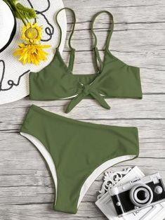 b1846712b1017 Knot Padded Bikini Set - Hazel Green - Hazel Green S Hazel Green