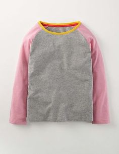 95502ab2 Mini Boden Raglan T-shirt Grey Marl/Formica Pink Girls Get seriously arty  with