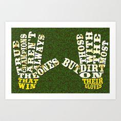 #Soccer Goalie Gloves Calligram Design Art Print by Brando