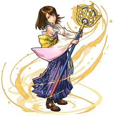 Yuna from Puzzle & Dragons