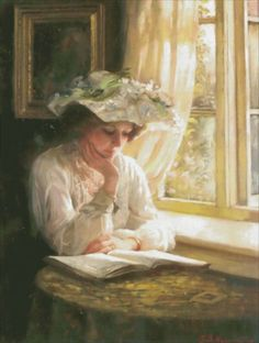 Lady Reading By Window [ANTIQUITIES101] - $12.35 : Heaven And Earth Designs, cross stitch, cross stitch patterns, counted cross stitch, christmas stockings, counted cross stitch chart, counted cross stitch designs, cross stitching, patterns, cross stitch art, cross stitch books, how to cross stitch, cross stitch needlework, cross stitch websites, cross stitch crafts