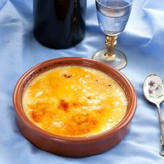Crema Catalana - the Catalan version of the French crème brûlée with hints of lemon and cinnamon and a crusty burnt sugar top.
