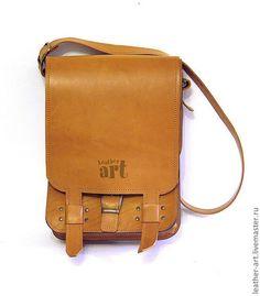 6432bd6e80b9 Мужские сумки ручной работы. Ярмарка Мастеров - ручная работа. Купить  Кожаная мужская сумка Трансформер. Handmade. Рыжий