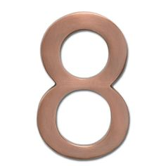 Architectural Mailboxes 5 in. Antique Copper Floating House Number 8