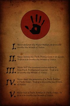 The+Five+Tenets+of+the+Dark+Brotherhood+by+LeahyByDesign+on+Etsy