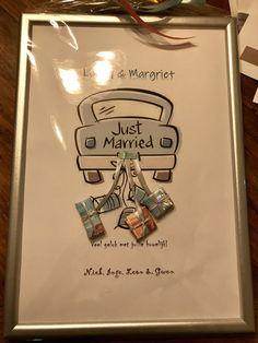 Geld cadeau voor een bruiloft Diy Wrapping, Just Married, Marcel, Smoothie, Wraps, Creative, Gifts, Ideas, Presents
