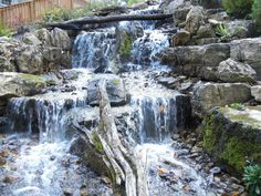 Waterfall created by Meyer Aquascapes in Harrison, OH. #WaterfallWednesday