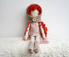 Pixie Doll/ Stuffed Doll/Pixie hat Handmade por thedollsunique