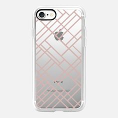 Map Outline 45 Rose Gold Transparent -  #casetifyiphone7 #iphone7 #geometric #abstract #phonecase
