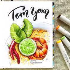 Traditional Thai soup Том ям - тайский суп с кокосовым молоком и креветками. Очень вкусный, даже если учесть, что я вообще-то не фанат азиаткой кухни :)