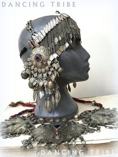 Tribal Headdress with Large Pendants and Dangles by DancingTribe