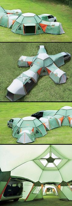 Awesome Modular Tent System Can Be Configured to Your Liking