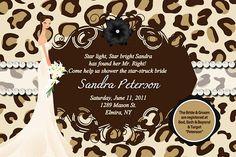 Bridal Shower Invitation Cheetah Leopard Any Color Digital Printable 11 00 Via Etsy