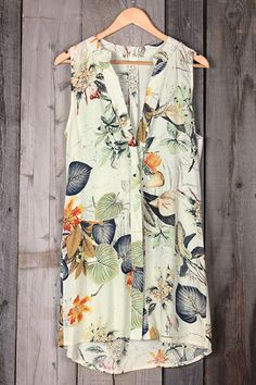 Cupshe Get Loose Garden Printing Shirt Dress
