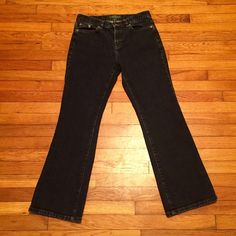 Reduced! Ralph Lauren Jeans Wide leg, dark wash jeans are perfect for this fall season! Great with boots! Petit size Ralph Lauren Jeans