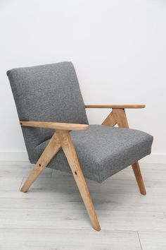 Fotel b-310 PRL design loft skandynawski (5795315839) - Allegro.pl - Więcej niż aukcje.