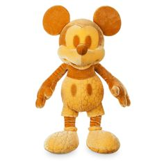 Mickey Mouse Memories Plush - February 2018 - Limited Edition Golden Colour Yellow Scheme Part of Mickey Mouse Memories Collection New with Tags. Officially from Disney Store. Disney Mickey Mouse, Mickey Mouse Doll, Activity Toys, Preschool Activities, Disney Merch, Disney Collection, Disney Furniture, Gold Color Scheme, Plushies