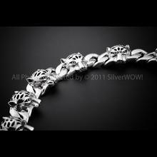 Australian Made Solid Dolphin Links Bracelet 20cm Length Genuine 925 Sterling Silver