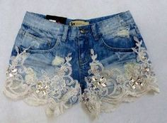 NWR: Diamonds and Denim? 2019 NWR: Diamonds and Denim? The Knot The post NWR: Diamonds and Denim? 2019 appeared first on Lace Diy. Diy Shorts, Diy Jeans, Recycle Jeans, Denim And Lace, Lace Jeans, Diy Lace Jean Shorts, Kleidung Design, Diy Kleidung, Denim Fashion