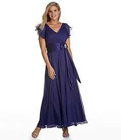 KM Collections Chiffon Gown #Dillards