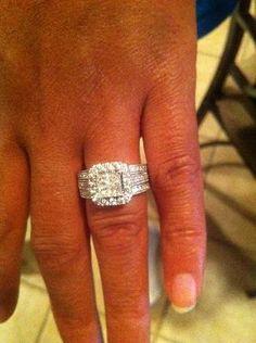 1-1/2 CT. T.W. Princess-Cut Quad Diamond Bridal Set in 14K White Gold ITEM #: 18154955 $1999.99 -- uh, YES!