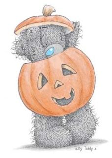 Me to You: Tatty Teddy:) Happy Halloween! Tatty Teddy, Image Halloween, Halloween Pictures, Happy Halloween, Bear Halloween, Halloween 2016, Blue Nose Friends, Cute Images, Cute Pictures