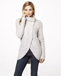 Throw mock neck cardigan RW&CO. Holiday 2013 Collection
